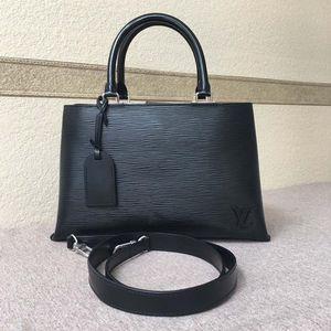 Louis Vuitton 路易·威登黑色水波纹手提单肩包