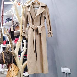 MaxMara 麦丝玛拉经典驼色驼绒长款大衣