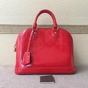 Louis Vuitton 路易·威登国旗红漆皮手提包