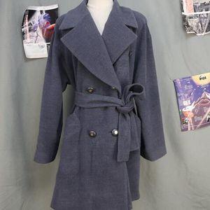 GIVENCHY 纪梵希女士英伦修身羊毛双排休闲中长款大衣外套