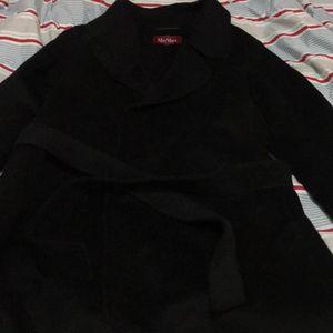 MaxMara 麦丝玛拉黑色羊毛大衣