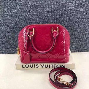 Louis Vuitton 路易·威登印度粉漆皮手提单肩包