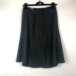 ARMANI 阿玛尼灰色羊毛半裙