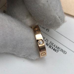 Cartier 卡地亚LOVE系列单钻18k玫瑰金戒指