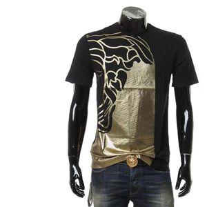 Versace Collection范思哲烫金美杜莎男短袖T恤