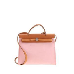 Hermès 爱马仕粉色子母手提包