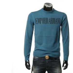Emporio Armani 安普里奥·阿玛尼男士字母套头毛衣