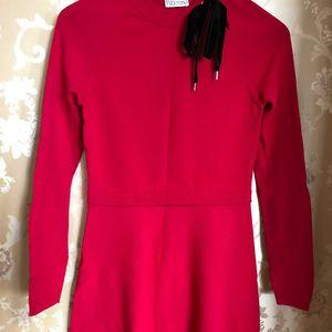 Red Valentino 华伦天奴红标针织连衣裙