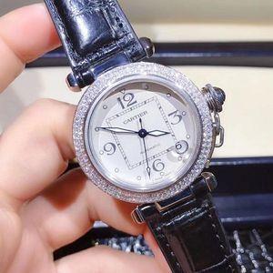Cartier 卡地亚帕莎系列后镶钻自动机械腕表