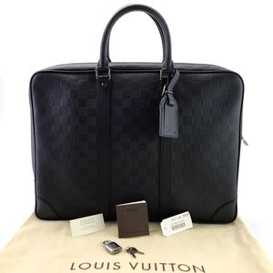 Louis Vuitton 路易·威登全皮公文包牛皮压纹