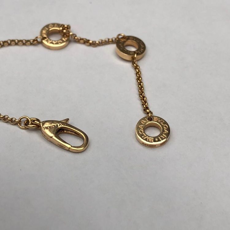 BVLGARI 宝格丽玫瑰金小蛮腰满钻项链