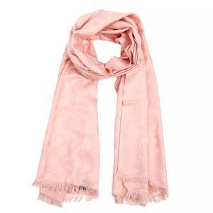 COACH 蔻驰粉色羊毛桑蚕丝围巾