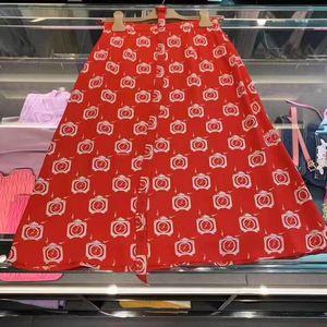Miu Miu 缪缪女士红色半身裙