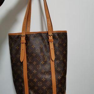 Louis Vuitton 路易·威登老花大水桶单肩手提包