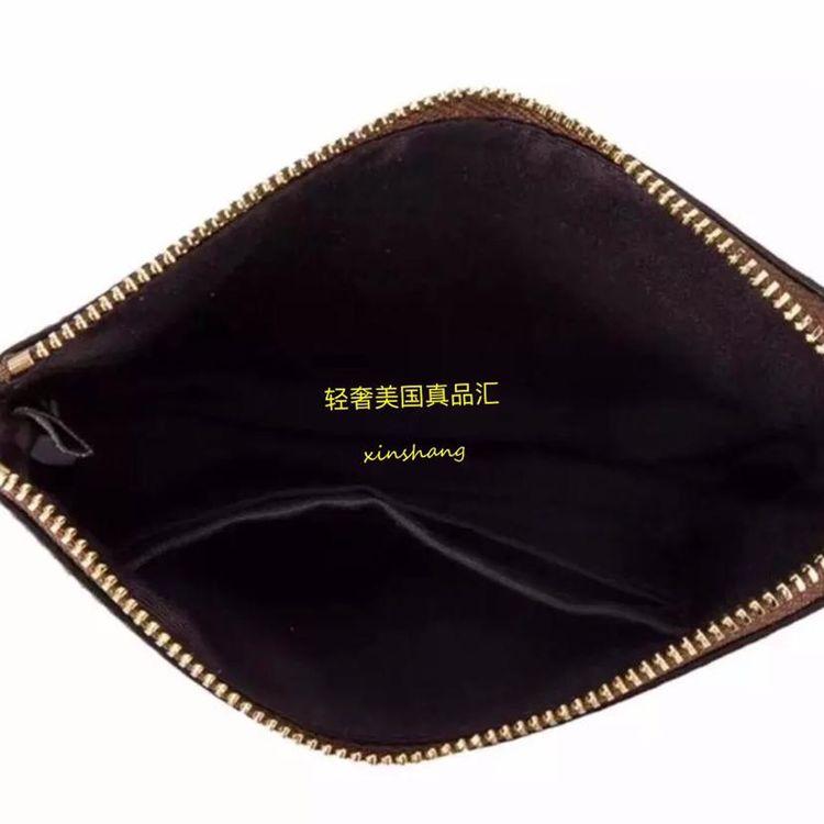 COACH 蔻驰经典logo星星涂鸦牛皮零钱手拿包