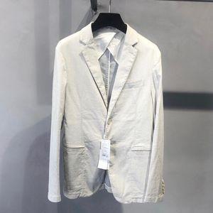 ARMANI 阿玛尼米白色休闲西服