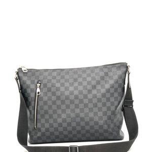 Louis Vuitton 路易·威登灰棋盘格单肩斜挎包