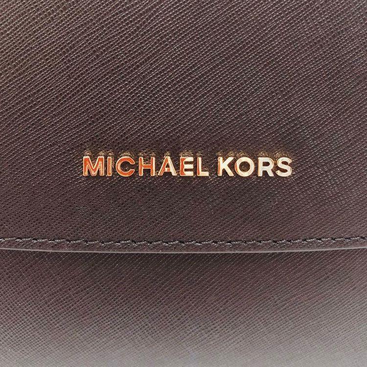 Michael kors 迈克.科尔斯黑色纯牛皮双肩带戴妃包