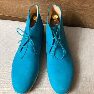 Christian Louboutin 克里斯提·鲁布托蓝色高帮休闲鞋