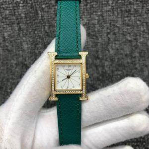 Hermès 爱马仕女士后镶钻石英手表