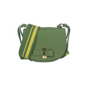 Delvaux 德尔沃草绿色宽肩带小猪包单肩斜挎包