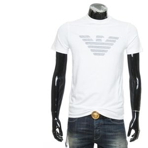 Emporio Armani 安普里奥·阿玛尼男士圆领印花休闲短袖T恤