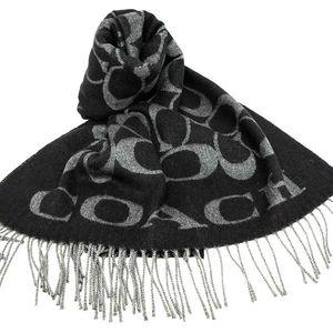 COACH 蔻驰经典大C纹意产羊毛围巾