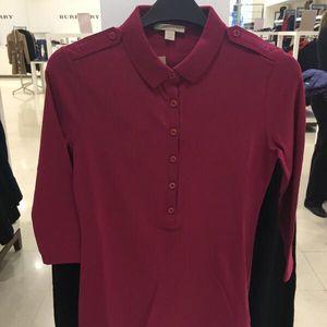 Burberry 博柏利英国购买女士七分袖T恤左下大马标