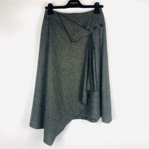 Alexander McQueen 亚历山大·麦昆灰綠色围裙式半身裙