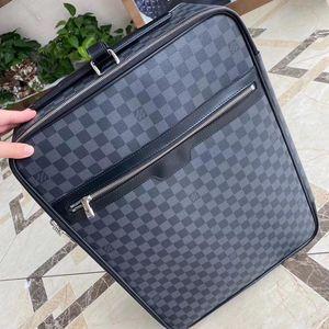 Louis Vuitton 路易·威登蓝黑棋盘格手提拉杆行李箱