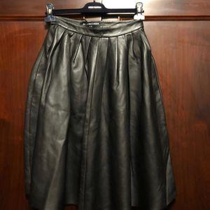 Balenciaga 巴黎世家女士羊皮半身裙