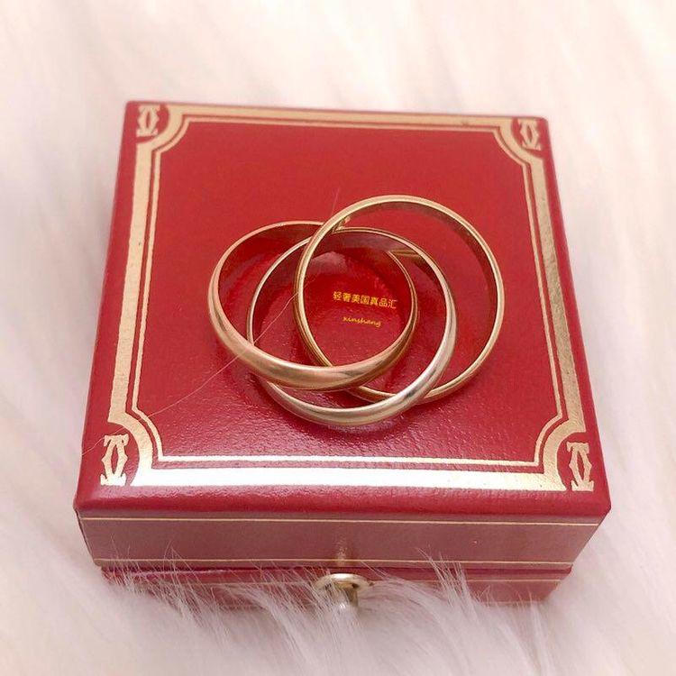 Cartier 卡地亚三色三金54号三环戒指