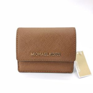 Michael kors 迈克.科尔斯棕色短款钱包