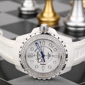 CHANEL 香奈儿J12白陶瓷镶钻自动机械女表