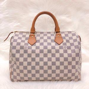 Louis Vuitton 白棋盘格SP30枕头手提包