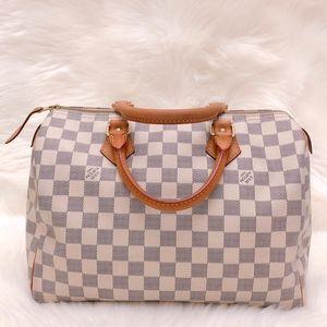 Louis Vuitton 路易·威登白棋盘格SP30枕头手提包
