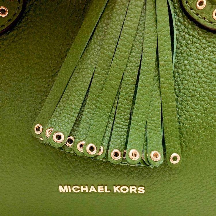 Michael kors 迈克.科尔斯纯牛皮宽肩带大流苏变型单肩手提包