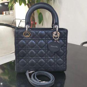 Dior 迪奥lady五格绸缎戴妃手提包
