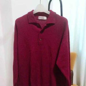 Burberry 博柏利复古枣红色毛衣