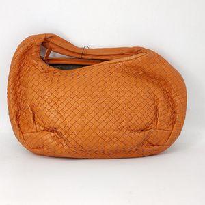 Bottega Veneta 葆蝶家橘色编织手提袋