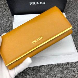 PRADA 普拉达黄色女士钱包