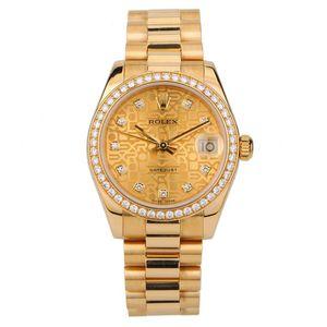 Rolex 劳力士黄金镶钻女士腕表