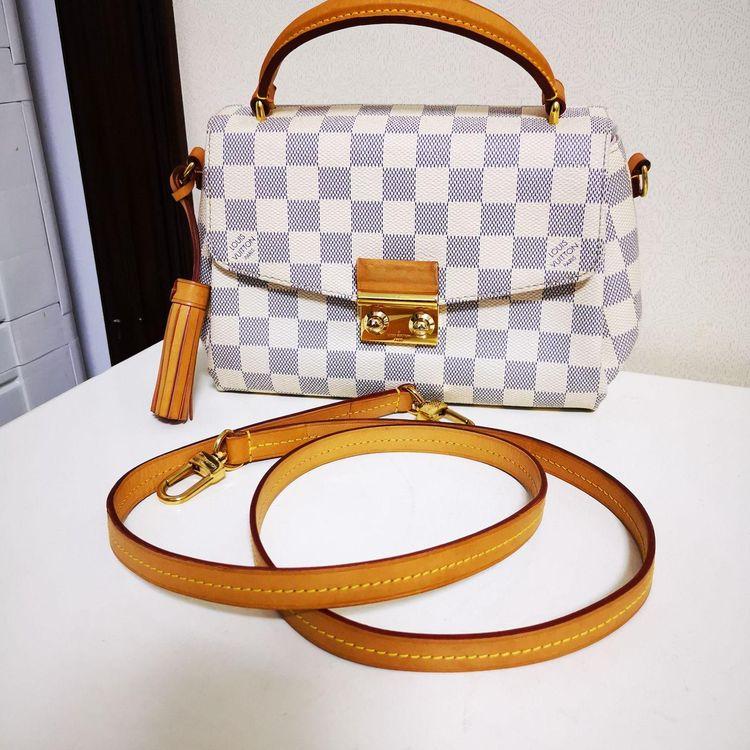 Louis Vuitton 路易·威登Croisette白棋盘斜挎包