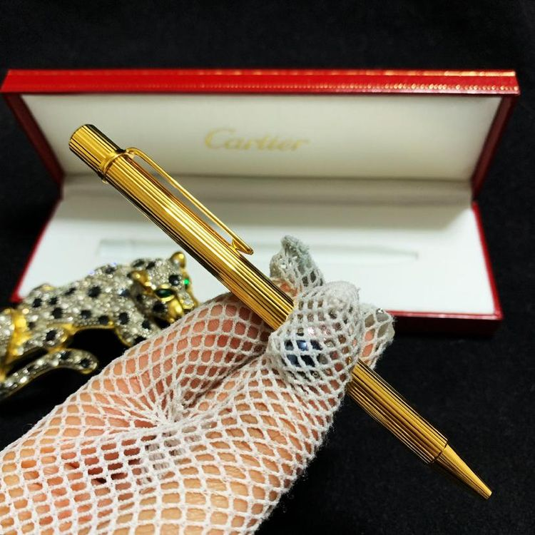 Cartier 卡地亚限量款重工镀金签字笔