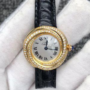 Cartier 卡地亚后镶钻女士石英机芯腕表
