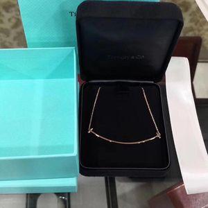 Tiffany & Co. 蒂芙尼大号玫瑰金笑脸项链