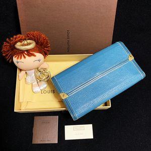 Louis Vuitton 路易·威登名贵苏哈里山羊皮天空蓝长款钱包