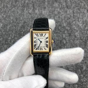 Cartier 卡地亚W5200002坦克系列石英机芯女士腕表