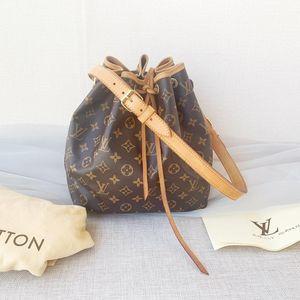 Louis Vuitton老花noe水桶单肩包