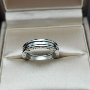 BVLGARI 宝格丽白金单环50号弹簧戒指